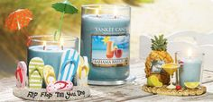 Bahama Breeze  There's cool summer refreshment in this tropical blend of pineapple, grapefruit and mango.    Tiki Time Collection  Give your home decor a fun attitude adjustment for the season with the colorful, lighthearted pieces in this exclusive collection of hand painted candle accessories.