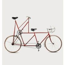 Tandem with total vision by Jacques Carelman