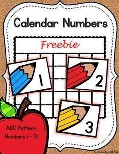 Enjoy this free sample of my Calendar Numbers :)