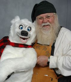 Me and my Axtell Polar Bear puppet.