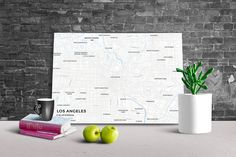 Now available in our store: Gallery Wrapped M... Check it out here! http://shop.mapprints.co/products/gallery-wrapped-map-canvas-of-los-angeles-california-subtle-ski-map-los-angeles-map-art-1?utm_campaign=social_autopilot&utm_source=pin&utm_medium=pin