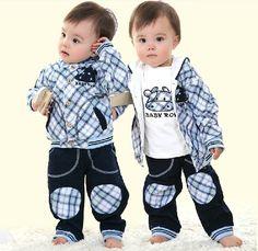 Ucuz  Doğrudan Çin Kaynaklarında Satın Alın: 2013 yeni varış beyefendi bebek takım. Erkek resmi elbise. Bebek erkek çizgili seti. Cool boy 3 adet set coat+shirt+pant. Giyim seti setleriBizi $ 39.25/piece13 yeni stil erkek bebek patchwork spor ta