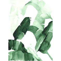 Tropical Banana Leaves Watercolor Print #home-decor-art