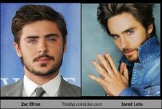 Zac Efron and Jared Leto. Yes oh yes, please.