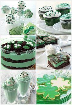 Green desserts galore