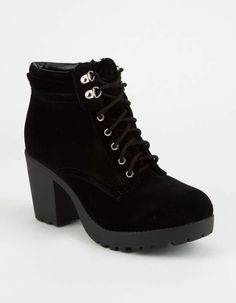 58649ecf36422 SODA Lace Up Womens Boots - BLACK - 312907100. Bottes De Cuir NoirChaussons  ...