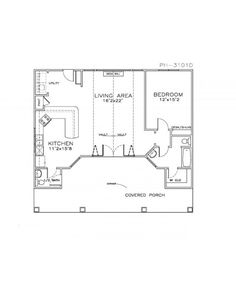 Morningside gardens one bedroom apartment floor plan 1 Pool house guest house plans