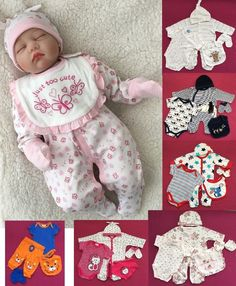 5Teiler Set Baby Geschenkset Mädchen & Jungs Strampler gr 50 56 62 68 England