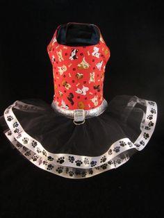 NEW Couture Puppy Love Dog Tutu Dress SMALL _   #HandMade_ Facebook - Kim's Posh Pets