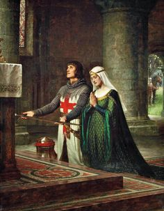 "EDMOND BLAIR-LEIGHTON...""The Dedication""..looks like he's signed up with the Templars to go on Crusade."