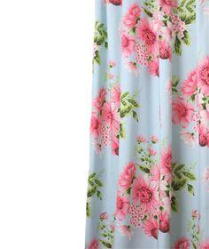 Needham Lane Greta Blue shower curtain