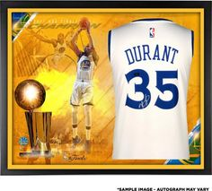 7aba3d289b7 Kevin Durant Golden State Warriors Framed Autographed 2017 NBA Finals  Champions White Swingman Jersey Collage - Panini Authentic
