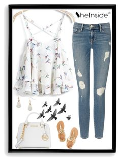"""""""Birds in flight"""" by runners ❤ liked on Polyvore featuring MICHAEL Michael Kors, Frame Denim, Ancient Greek Sandals, Humble Chic and Bomedo"""