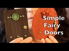 "DIY How To Make A Fairy Door | Craft Idea Tutorial with Emilie Lefler- Untidy Artist- YouTube Video 2:59 min..How to make your own whimsical fairy door. Place anywhere in your house to invite fairies to move in. This fun and imaginative project is great to do with kids and also great for the ""young at heart""!"