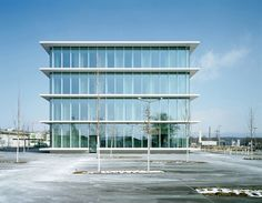 Built by Nissen & Wentzlaff Architekten in Rheinfelden, Germany with date 2012. Images by Ruedi Walti. Standing four stories tall, the new building stands out self-assuredly from the heterogeneous buildings in the commer...