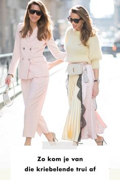 Girls | woman | sweater | pink | yellow | pastel | color | tips | ysl | streetstyle | suit | brown hair | fashion | style | styling | add to cart | shopping | london | madrid | paris | amsterdam