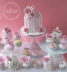 Birdcage Wedding Cakes by The Clever Little Cupcake Company  - http://cakesdecor.com/cakes/258797-birdcage-wedding-cakes