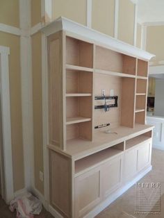 BUILT-INS : Built-In Cabinetry Entertainment Center – Craftsman Style - diy furniture entertainment center Home Entertainment Centers, Craftsman Style, Cabinetry, Built In Bookcase, Home, Built In Cabinets, New Homes, House, Built In Entertainment Center