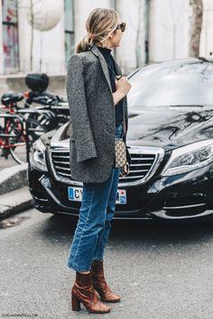 PFW-Paris_Fashion_Week_Fall_2016-Street_Style-Collage_Vintage-Grey_Blazer-Gucci-Jeans-2