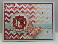 "Stampin' Up! products and the ""Gradation Technique"" by Debbie Henderson, Debbie's Designs. Tutorial on my blog!"