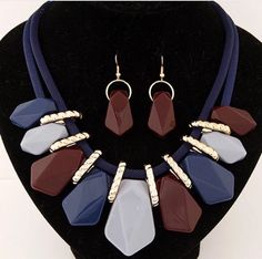 Gemstone Statement by UniqueStylesAccessories Unique Gem Necklace Set