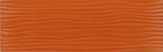 "Euro Glass  Crystile Wave Series, 4"" x 12"", Orange Burst-Sold by Box, Glossy, Orange, Glass"