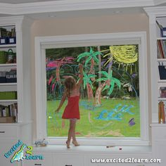 Like the idea of drawing on the windows so it looks tropical