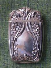 Sterling Silver Match Safe of Vesta with Floral Design