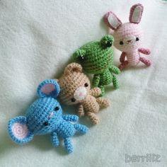 PDF Crochet Pattern - Tiny animals.