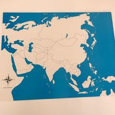 These unlabeled maps are used by children to learn all the different states in Asia they use sensorial excercies for this. World Geography, Kids House, Asia, Diagram, Map, Activities, Location Map, Maps