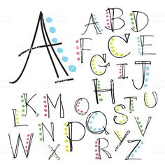 Illustration about Black colorful alphabet uppercase letters.Hand drawn written with a soft watercolor paint brush chalk pencil. Illustration of language, background, alphabet - 63342137 Hand Lettering Alphabet, Doodle Lettering, Lettering Styles, Brush Lettering, Brush Font, Lettering Ideas, Alphabet Design, Handwriting Fonts Alphabet, Cool Fonts Alphabet