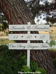 OuR SToRy BeGiNs HeRe SiGn  Name & Date with by lizzieandcompany, $74.95