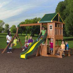 oakmont wooden swing set