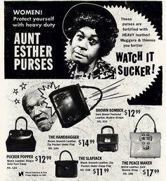 Aunt Esther Purses - Watch it Sucker!