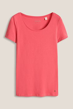 basic round neck stretch cotton t-shirt