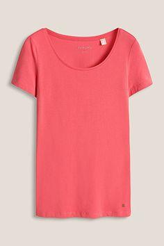 basic round neck stretch cotton t-shirt