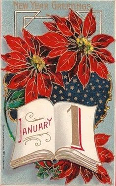 Vintage New Year Postcard, ca. Vintage Happy New Year, Happy New Year Cards, Happy New Year 2019, New Year Wishes, New Year Greetings, Happy 2015, Victorian Christmas, Vintage Christmas Cards, Christmas Images