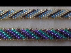 PULSERA SUPERDUO DIAGONAL TECNICA PEYOTE - YouTube