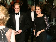 Enjoying themselves: The Duke and Duchess of Cambridge appeared excited to be attending th...