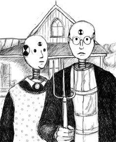 American Gothic Crash Dummies - from American Gothic Parodies