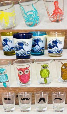 Owl shot glasses Earthbound trading company. Com