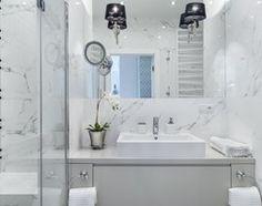 Inspiracje - Średnia łazienka w bloku bez okna, styl nowoczesny - zdjęcie od Anna