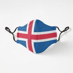 Face Mask, Iceland. Iceland Face Covering. Christmas. Icelandic Flag. íslenski fáninn. by GraceTee | Redbubble Iceland Flag, Flag Face, Mask Design, Independence Day, Art Prints, Artist, Gifts, Face Masks, Printed
