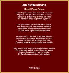 Aux quatre saison French Love Poems, Positivity, Images, Attitude, Geek, Learn French, Life, Citation Bonheur, Best Poems