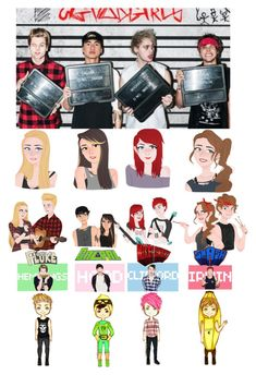 """""""5sos"""" by maxinepotter ❤ liked on Polyvore featuring art"""