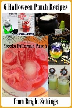 Halloween Punch Recipes—make one of these spooky punch recipes to thrill your guests or just your kids. Halloween Punch, Halloween Drinks, Halloween Goodies, Halloween 2014, Halloween Food For Party, Halloween Birthday, Diy Halloween Decorations, Holidays Halloween, Halloween Kids