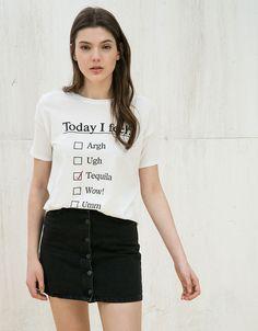 T- Shirts - DAMES - DAMES - Bershka Belgium