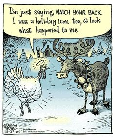 Thanksgiving and Christmas cartoon