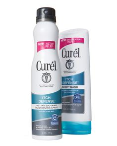 Falling outdoor temperatures and dry indoor heat are a surefire recipe for itchy skin. But the more you scratch, the more you itch. Curél Itch Defense body wash and Instant Soothing moisturizing spray beat the cycle by rebalancing skin's moisture and pH levels.