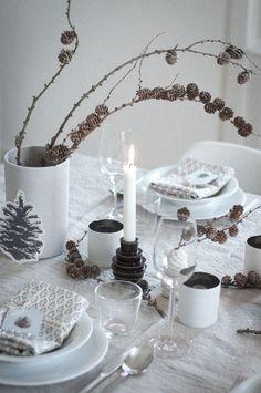weihnachtliche zapfen tischdekoration wunderschön-gemacht